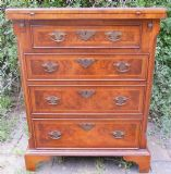 Small Walnut Batchelors Chest of Drawers